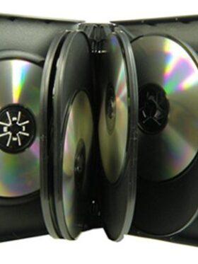 CD/DVD Black Molded Plastic Box, holds 10 discs