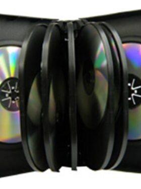 CD/DVD Black Molded Plastic Box, holds 12 discs