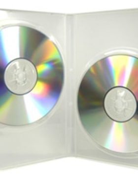 CD/DVD Clear Plastic Box, holds 2 discs