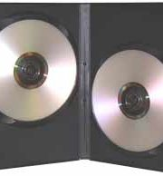 CD/DVD Black Molded Plastic Box, holds 2 discs