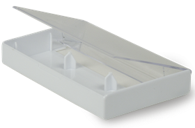 White and Clear Norelco Box