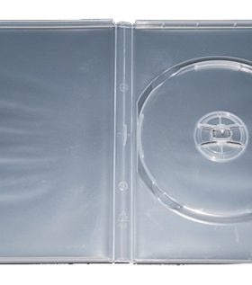 CD/DVD Clear Molded Plastic Box, holds 1 disc