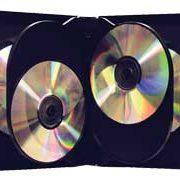 CD/DVD Black Molded Plastic Box, holds 6 discs