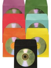 Colored CD/DVD Envelope with Glassine window