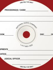 Pre Printed Court Reporter CD-Rs