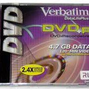 4.7 Gb DVD R with Verbatim Logo in jewel box 2X
