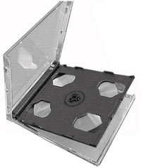 Smart CD Tray Holds 2 Discs in one Jewel box