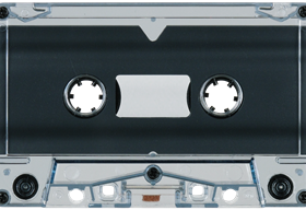 Blue-Gray Tint 731 Music Grade Tabs-Out Cassette