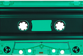 Green Tint 731 Music Grade Tabs-Out Cassette