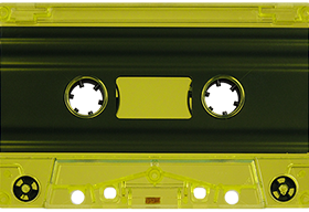 Yellow Tint 731 Music Grade Tabs-Out Cassette