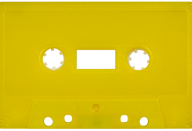 Yellow Solid 731 Music Grade Tabs-Out Cassette