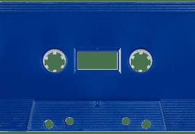 Royal Blue 731 Music Grade Tabs-Out Cassette